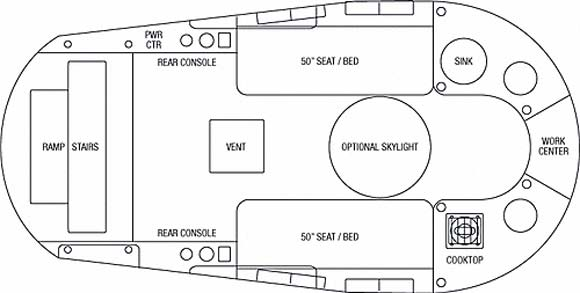 2008 Airstream Basecamp floorplan