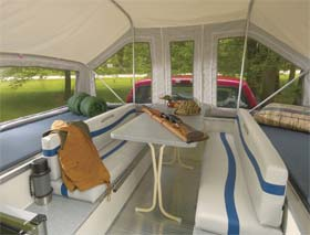 Quicksilver truck camper by Livin' Lite interior 1