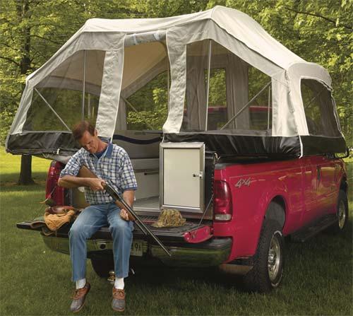 Quicksilver truck camper by Livin' Lite exterior