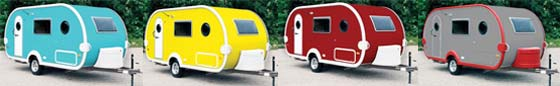 T@DA (TADA) small travel trailer exterior - alternate colors