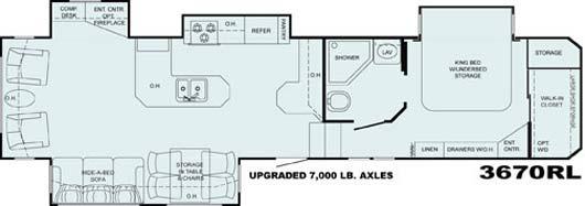 Heartland Bighorn floorplan 3670RL