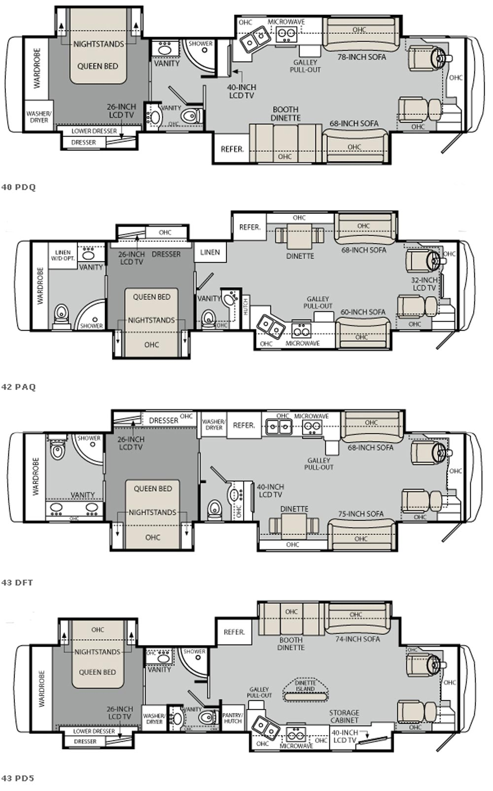 2011 monaco diplomat floorplans for Rv blueprints