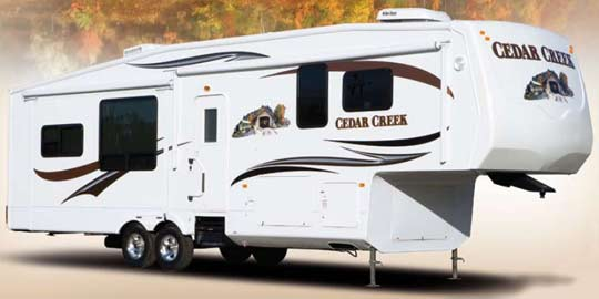 Cedar Creek fifth wheel exterior