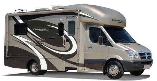 Four Winds Chateau Citation Sprinter class C motorhome exterior