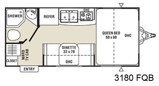 Coachmen M Series Small Travel Trailer Floorplan 3180 Fqb