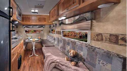 M Series Small Travel Trailer Interior Looking Forward Jpg