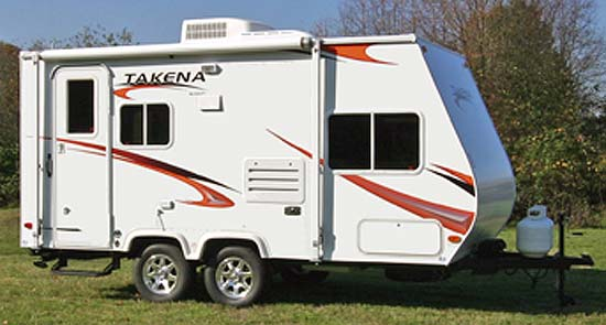 Takena travel trailer exterior