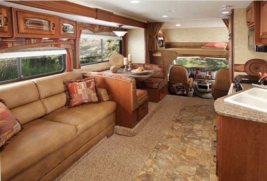 2011 Jayco Greyhawk Class C Motorhome Interior Looking Forward