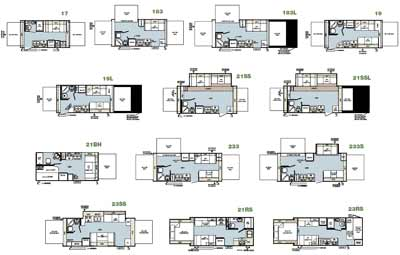 roaming times rv news and overviews back in travel trailer bunks floor plan free home design