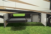 exterior sliding storage tray
