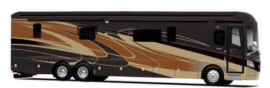 The 2015 Monaco Dynasty 45 Palace Class A Diesel Motorhome Exterior