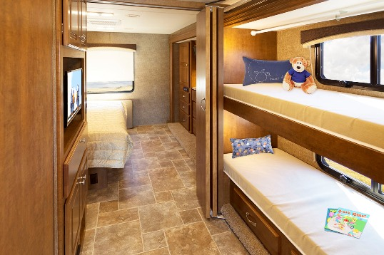 International Trucks RV Motorhome together with The Bedroom Has An ...