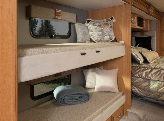 The 2016 Fleetwood RV Discovery 40G Class A Motorhome Bunk Beds