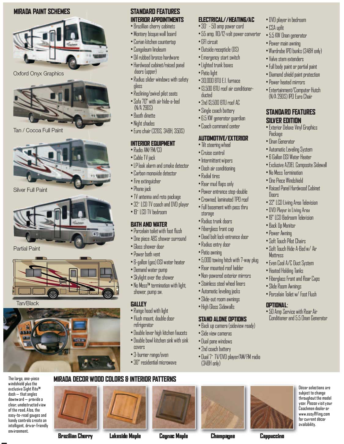 Motor home sizes for Class a rv height