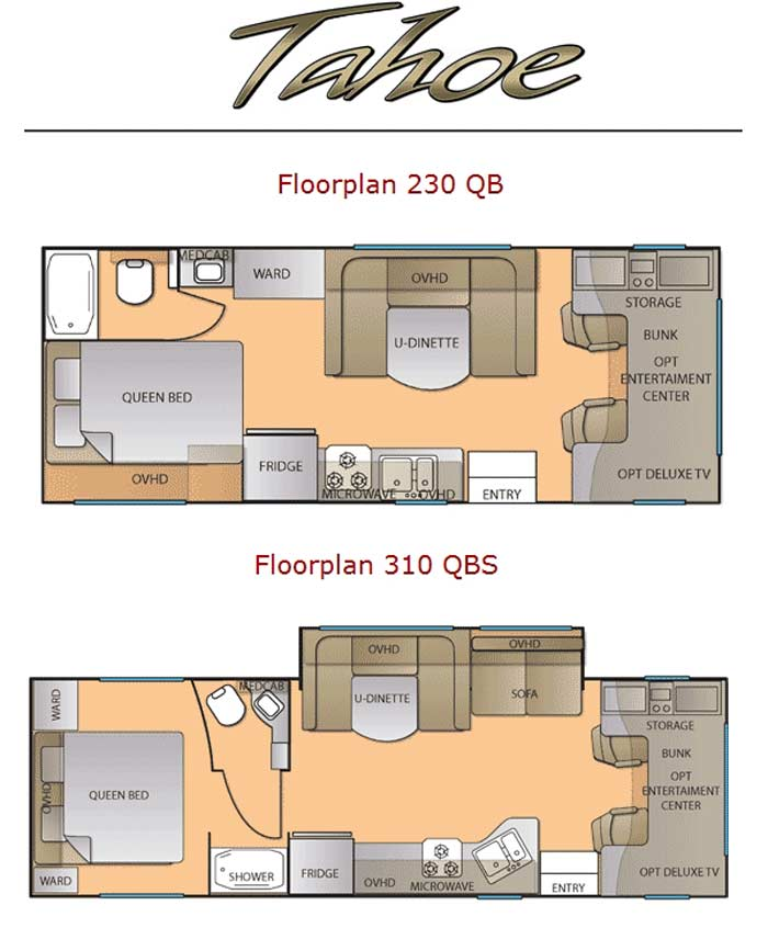 Chinook Motorhome Floor Plans