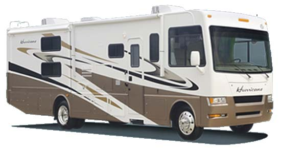 Four Winds Hurricane class A motorhome exterior