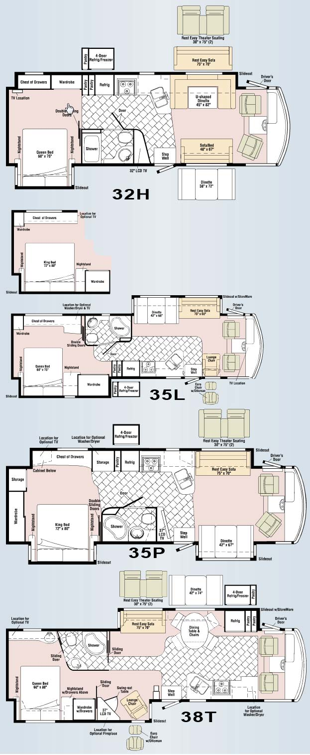 Itasca suncruiser rv floor plans carpet vidalondon for Motorhome plans