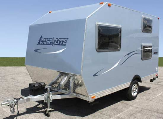CampLite travel trailer - blue