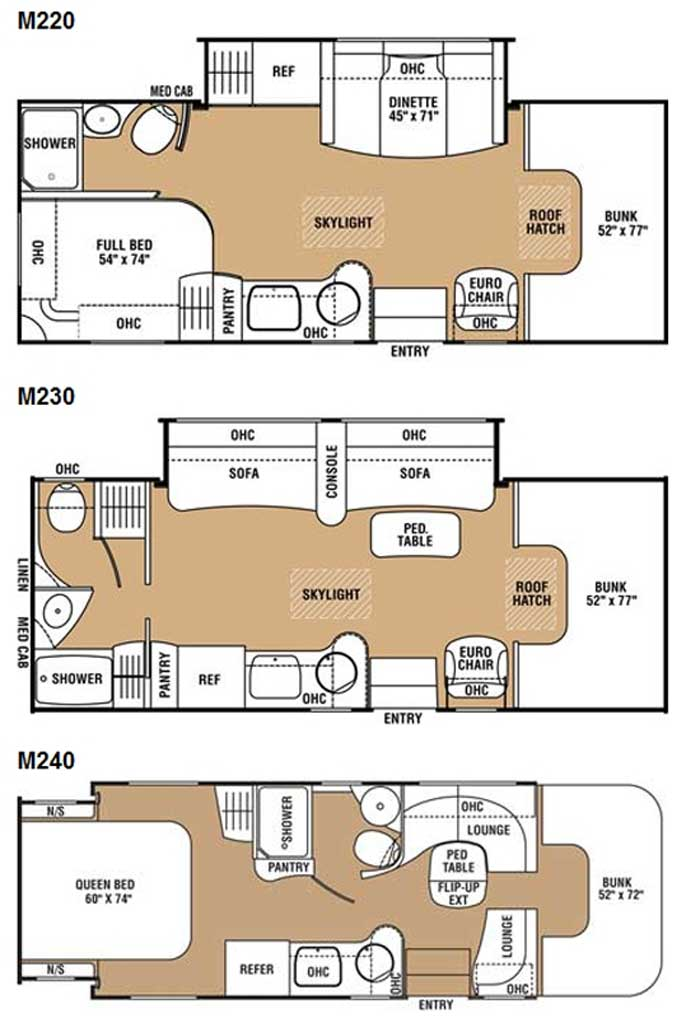 Chinook motorhome floor plans for Motor home designs