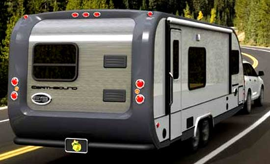 Earthbound RV exterior - on the road