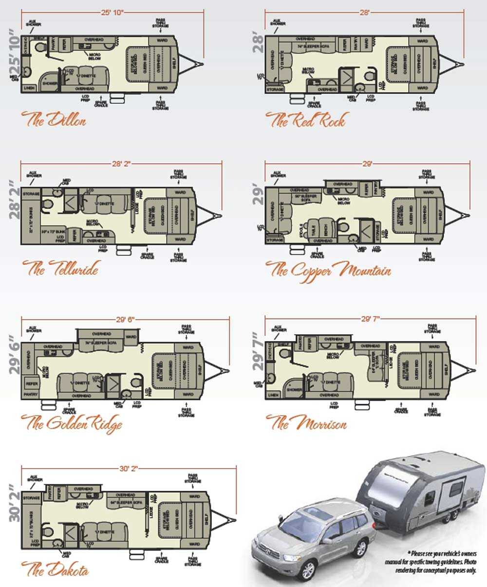 Travel trailer floorplans find house plans for Floor plans for motorhomes