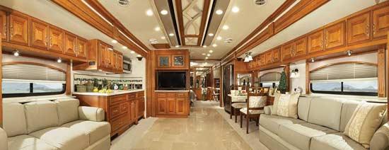 American Coach American Eagle Luxury Motorcoach Interior Looking To Rear