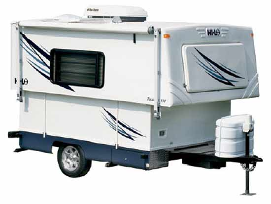 hi lo towlite 15t small travel trailer exterior - Small Camper Trailer