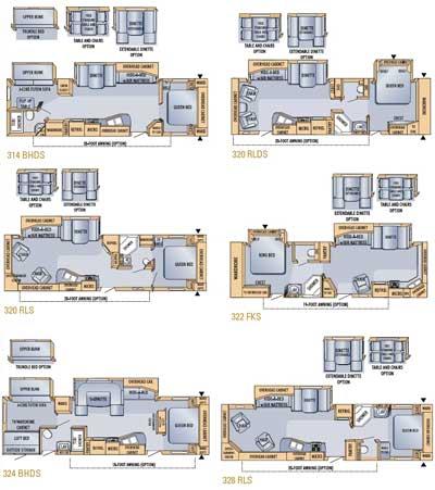 Small Travel Trailer Floor Plans