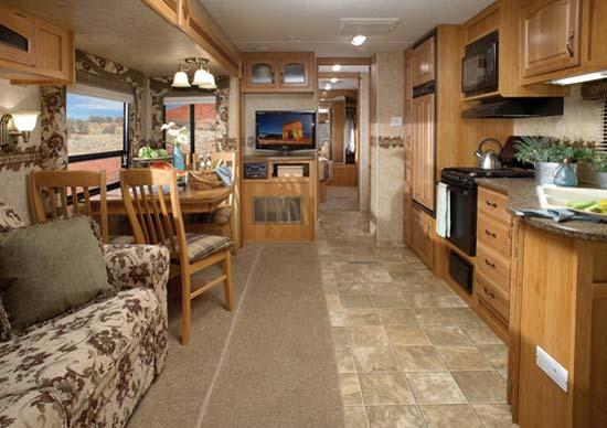 Luxury Eagle Travel Trailer 328RLTS Main Interior