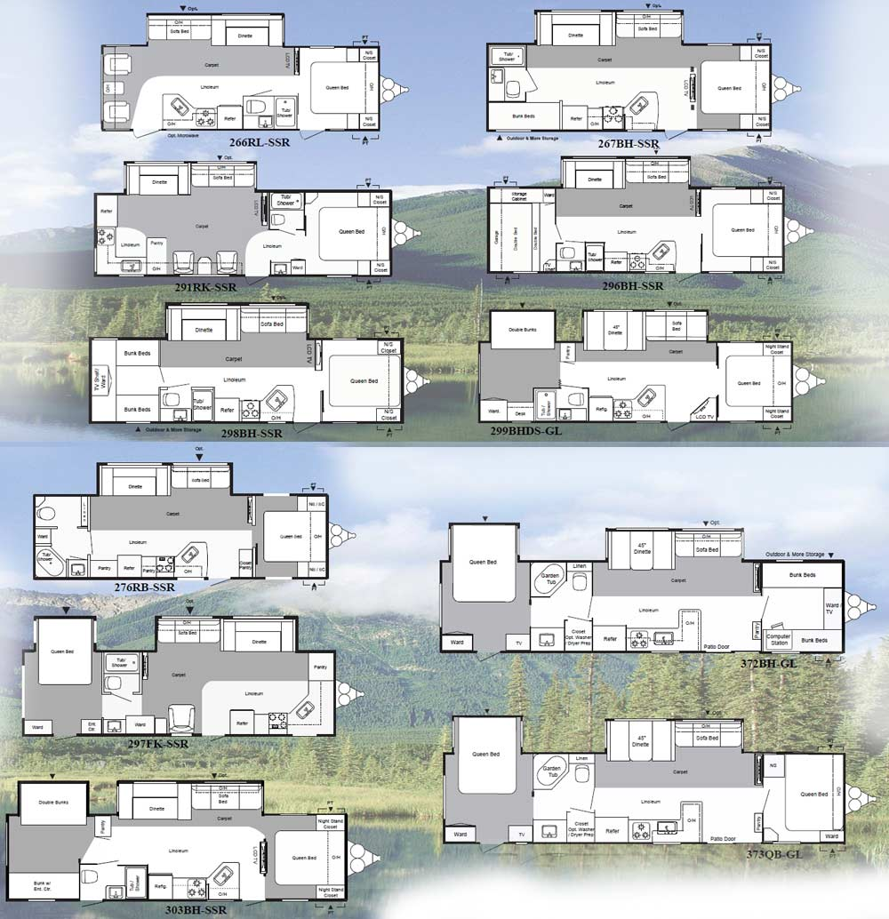 Keystone Springdale travel trailer floorplans - large picture