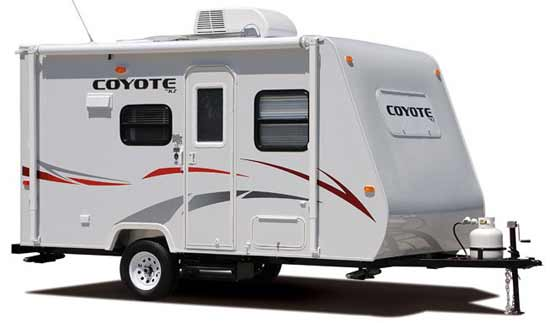 KZ Coyote travel trailer exterior - 16C model