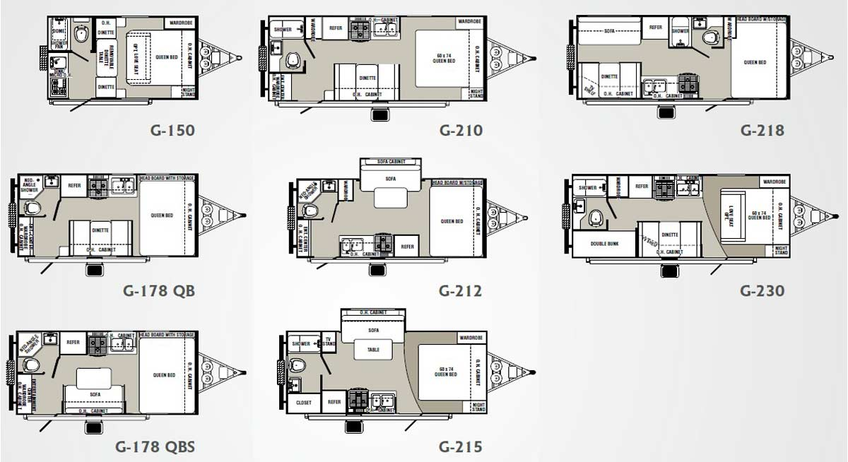 Palomino gazelle micro lite travel trailer floorplans for Micro compact home floor plan