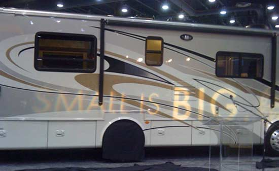 2010 Tiffin Allegro Breeze class A motorhome exterior - small is big