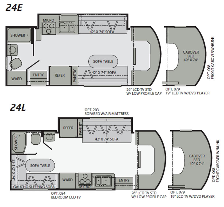 Fleetwood motorhome floor plans for Motor home plans