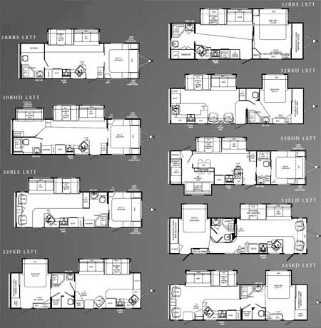 Holiday Rambler Savoy LX travel trailer floorplans - small picture, click for a larger picture