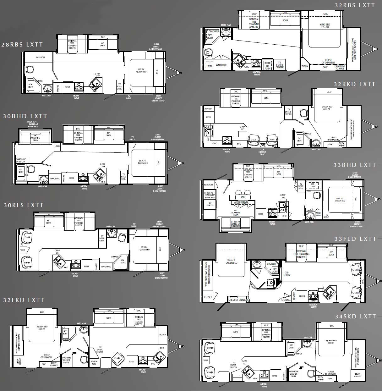 Travel Trailer Floor Plans on K Z Rv Floor Plans
