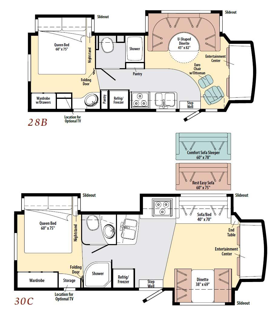 Winnebago Floor Plans Class C - Flooring Ideas and Inspiration