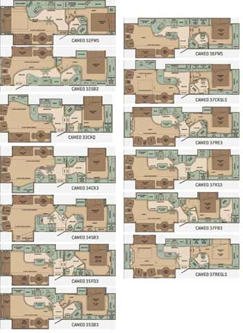 We show the Carriage Cameo floorplans below - click for a bigger