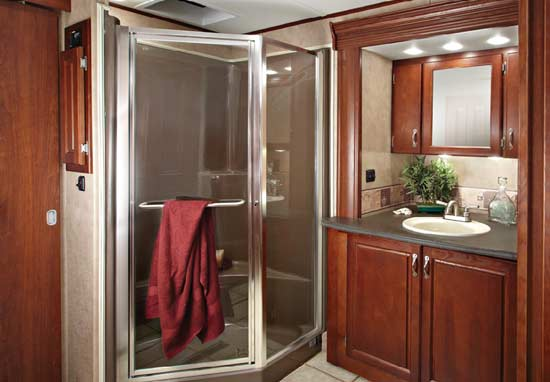 Rv bathroom door