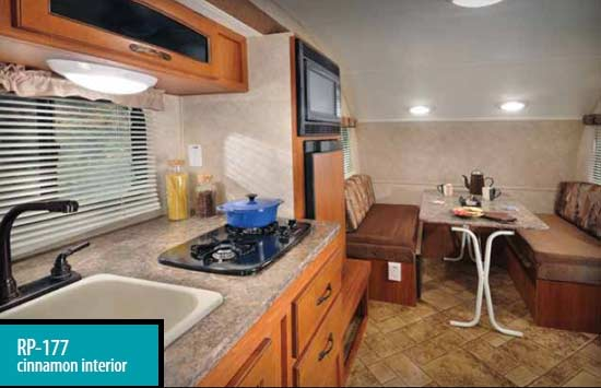 r-pod Ultra Lite travel trailer interior