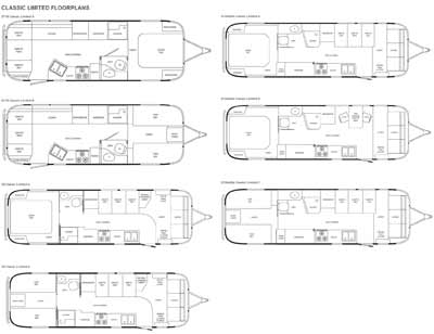 Airstream Classic Limited travel trailer floorplans - small picture