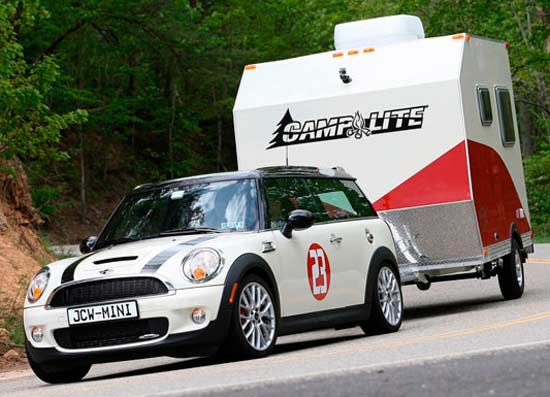 CampLite travel trailer - towing with a Mini Cooper