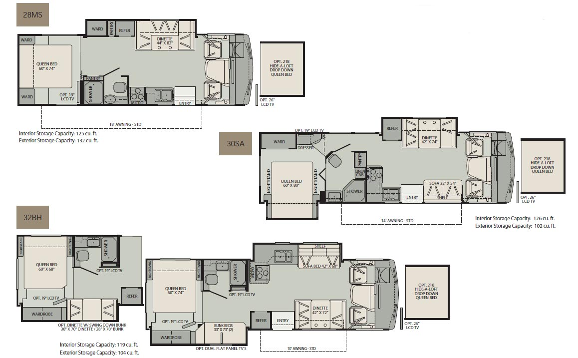 Fleetwood Storm Class A Motorhome Floorplans Large Picture