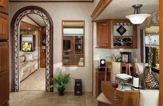 ... Forest River Cedar Creek fifth wheel interior - 36RD5S arrangement