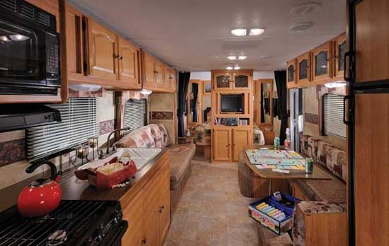 Passport ultra-lite travel trailer 2011 - interior looking to front