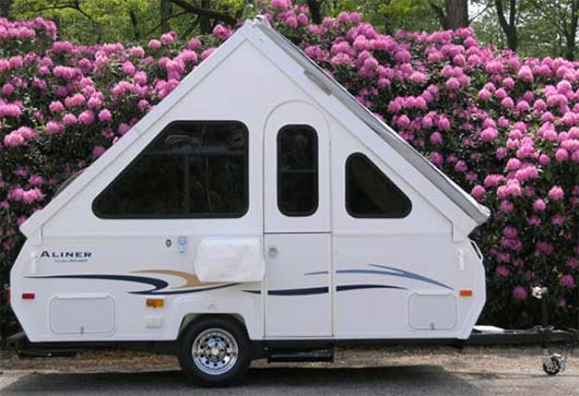 aliner the original solid wall folding camper