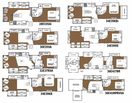 Glendale Titanium fifth wheel floorplans - small picture, click for a
