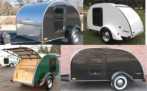 The Silver Shadow teardrop camper trailer - 4 exterior pictures