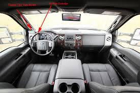 Interior of cab
