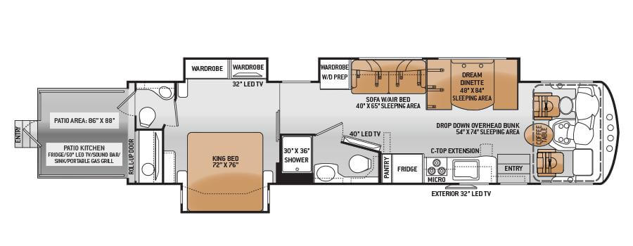 outlaw toy hauler floorplan